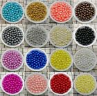 Hot 4 / 6 / 8/10mm Acrylic Round Pearl Spacer Loose Beads Jewelry Making Diy Jnd