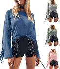 Women Knit Sweater Casual Loose Long Sleeve Knitted Pullover Top Sweatshirt New