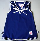 BABY GIRL DRESS Navy Blue Sleeveless Outfit Casual Clothing Girls Cotton Dress