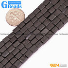 """4x6mm Natural Square Gemstone Spacer Beads For Jewelry Making Free Shipping 15"""""""
