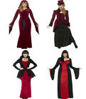 Ladies Vampiress Costume Halloween Vamp Fancy Dress
