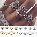 8 Pcs Ethnic Boho Style Festival Beach Tone Knuckle Rings Assorted Sets TXST