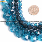 Faceted Dyed Blue Kyanite Crystal Loose Beads For Cambay Strand 15'' Wholesale