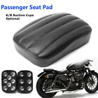 Rear Passenger Vintage Pillion Seat Pad 6/8 Suction Cups For Harley Dyna Custom