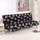 Polyester Couch Cover Protector Stretchy Folding Armless Futon Slipcover Plush