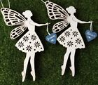 Fairy Decoration Wooden Sparkling Hanging Dream or Believe Fairy Wooden Heart