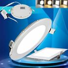3W-24W Dimmable LED Recessed Ceiling Panel Down Lights Bulb Slim Lamp Fixture