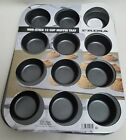 Non Stick Baking Tray Muffin 12 Deep Cup Fairy Cake Yorkshire Pudding Cupcakes