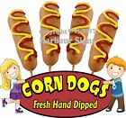 Corn Dogs DECAL (CHOOSE YOUR SIZE) Fresh Hand Dipped Food Truck Sign Concession