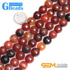 "Natural Gemstone Dream Agate Faceted Round Beads For Jewelry Making 15"" 8mm 10mm"