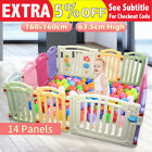 New 1.6m 1.2m Flexible Baby Toddler Kid Playing Safety Nursing Playpen Barrier