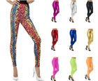 Ladies Leggings Assorted Colours 80's Fancy Dress