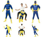 Mens Bananaman Costume 80's Superhero Fancy Dress