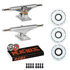 Independent Trucks Ricta SKATEBOARD 92a Clouds Wheels PACKAGE Reds Bearings