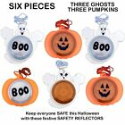 HALLOWEEN SAFETY REFLECTOR GHOST PUMPKIN TRICK OR TREAT NECKLACE COSTUME PARTY