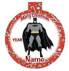 BATMAN Personalized Christmas Ornament SUPER HERO Any Name/Message FREE Ship