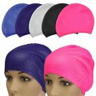 Unisex WaterProof Drop Silicone Stretch Swim Hat Swimming SPA Hair Cap Protect