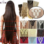 100% Real Natural as human Hair Clips ins Full Head Clip In Hair Extensions XY58
