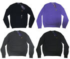 $695 Ralph Lauren Purple Label Mens Slim Wool Equestrian Crew Pony Logo Sweater