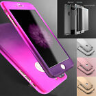 Ultra Thin Slim Hard Case Cover For Apple iPhone X 8 7 6S 6 Plus +Tempered Glass