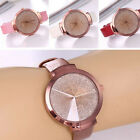Fashion Casual Stainless Steel Leather Watch Women's Analog Quartz Wrist Watches image