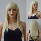 Women Soft Cosplay Anime Wig Long Straight Wavy Helloween Costume Party Wigs X5