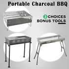 New Outdoor Camping Picnic Portable Charcoal Barbeque BBQ Grill Black Silver