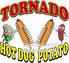 Tornado Hot Dog Potato DECAL (CHOOSE YOUR SIZE) Food Truck Concession Sticker