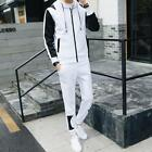 Men TrackSuit Sport Suit Jacket Sweater Coat Trousers Pants Hoodie EF526