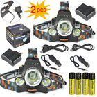 2pcs Hunting13000Lm XM-L 3T6 LED Headlamp Fishing Headlight+Battery+Charger Sets