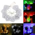LED 10 White Metal Hollow Heart Lights String Christmas Xmas Party Decor 1.2m TX
