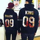 Women Men Couple Casual O-Neck Long Sleeve Letter Printed Hoodie DZ88
