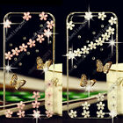 3D Bling Butterfly Transparent Soft TPU Ultra Thin Back Case Cover Skin C11 #3