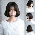 Lady Short Slight Curly Wavy Hair Full Wig Korean Hairstyle Cosplay Party