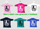 MINI T-SHIRT MAGLIETTA AUTO BABY PLAYER BIMBO CALCIATORE CALCIO A BORDO ON BOARD