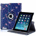 32nd Floral Series - PU Leather Folio 360 Stand Case Cover Apple iPad 2 / 3 / 4