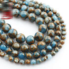 15'' 6/8/10/12mm Natural Blue Sapphire in Quartz with Pyrite Round Loose Beads