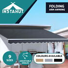 Outdoor Folding Arm Awning Retractable Sunshade Canopy Shade Sail Grey 5 sizes