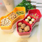 Plastic 5-section Dried Fruit Box Combined Fruits Candies Nuts Snack Storage Box