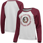 Florida State Seminoles Blue 84 Womens B84 Cozy Fleece Raglan Crew Sweatshirts