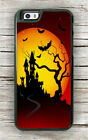 HALLOWEEN HAUNTED CASTLE AND BATS CASE FOR iPHONE 8 OR 8 PLUS -hkm8Z