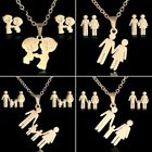 Fashion Stainless Steel Pendant Necklace Chain Earrings Jewelry Set Family Love