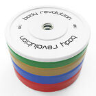 """Olympic Bumper Plates Rubber Weight 2"""" Disc - Crossfit Powerlifting Strength Gym"""