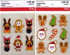 U CHOOSE Recollections Stickers CHRISTMAS COOKIE - ANIMAL COSTUMES Santa Rudolph