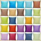 """100% Cotton Soft Solid Color Throw PILLOW COVER Sofa Couch CUSHION CASE 18x18"""""""