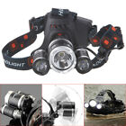8000LM Zoomable USB Rechargeable  3 LED 18650 Headlamp Head Light Torch