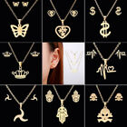 Fashion Stainless Steel Women Crown Pendant Necklace Earrings Jewelry Set Gift