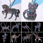 Colorful Thermal Transfer Printing Animal Cat Dog Pendant Necklace Women Jewelry