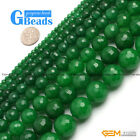 "Green Jade Faceted Round Beads For Jewelry Making Free Shipping 15"" 4mm 6mm 8mm"