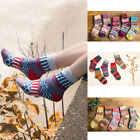 5 Pairs Women Thick Warm Wool Cashmere Soft Solid Casual Sports Socks Winter